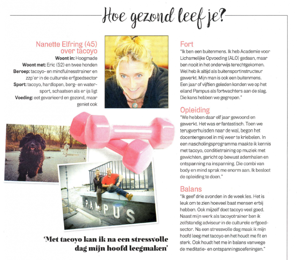 Nanette in de Margriet