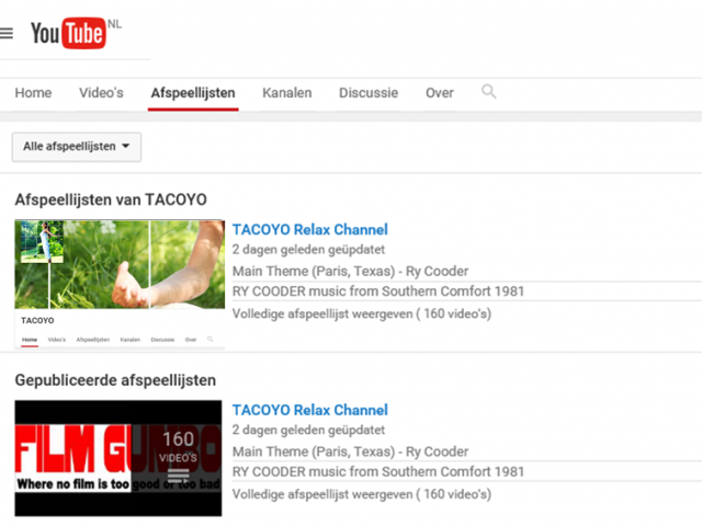 Tacoyo Relax Channel